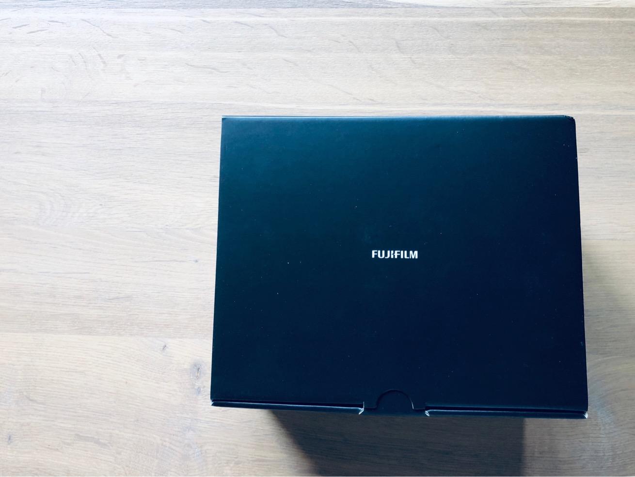 "Photo of a black box labeled ""Fujifilm�"