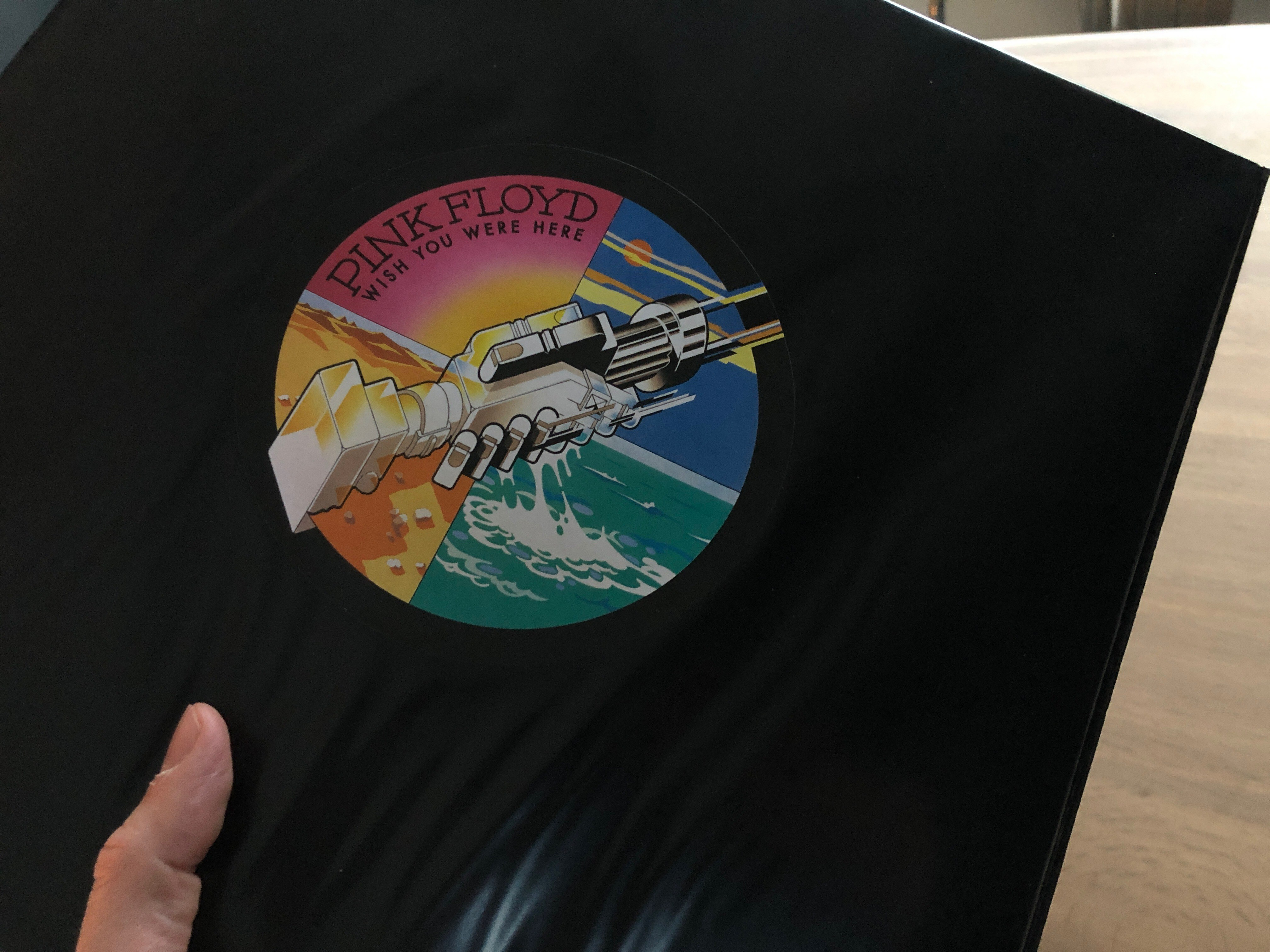 Photo of Pink Floyd album Wish You Were Here.