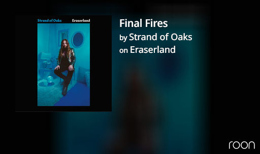 the Eraserland album cover: a long haired man in black sitting in a blue room