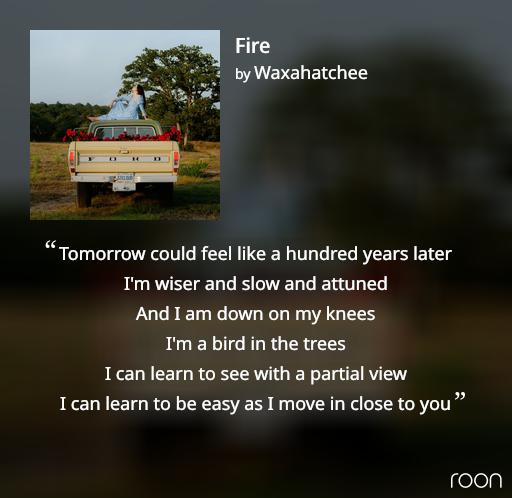 Screenshot of cover art for Waxahatchee's album Saint Cloud